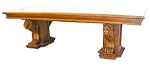 Figural Carved Wlnt Conference Table & Chairs