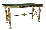 19th C. Gorham Bank Table W/marble Top