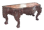 Magnificent Rosewood Marbletop Pier Table