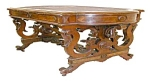 Rare Walnut Victorian Writing Desk By Brooks