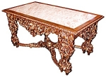 19th C. Giltwood Marble Top Table