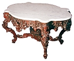 Magnificently Carved & Signed Belter Table