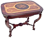 American Renaissance Inlaid Rosewood Table