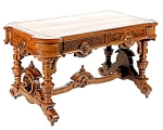 Beautiful American Victorian Library Table
