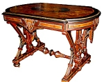 Spectacular Berkey & Gay Inlaid Table