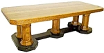 19th C. American Oak Conference Table