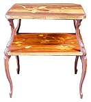 Beautiful Two Tier Inlaid Art Nouveau Table