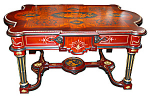 19th C. American Rosewood Inlaid Center Table
