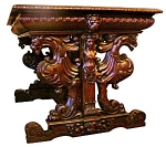 Finely Detailed Oak Library Table