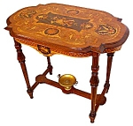 19c Inlaid American Victorian Center Table