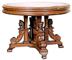 Fabulous Walnut Leather Top Table By Jelliff