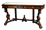 Rare American Marble Top Console Table