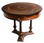 Round Table With Mother-of-pearl Inlay