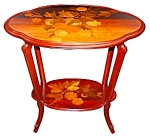 Two Tier Inlaid Art Nouveau Table By Galle.
