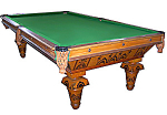Inlaid Pool Table By Brunswick