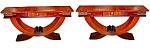 Spectacular Pair Of Art Deco Console Tables