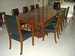 10 Leather Chairs & Art Deco Table