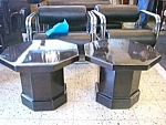 Pair Of Black Octaganal Side Tables