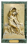 Beautiful Marble & Bronze Wall Statue