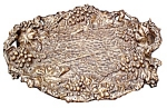 "Large Ornate Bronze Tray ""serenading Pierrot"""