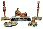 Rare 5-pc. Signed Tiffany & Co. Empire Revival Desk Set