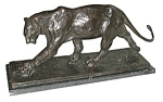 "Bronze Art Deco ""walking Panther"""