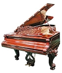 Beautiful Rosewood Knabe Concert Grand Piano.