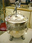 Antique Punch Bowl Wmf With Ladle Silver Plate