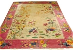 Magnificent Handwoven & Hand- Knotted Art Deco Rug