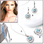 Fabulosa Cz Jewelry Collection - 5 Pc
