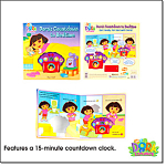 Dora Countdown To Bedtime Book W/clock