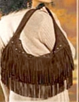 Suede Hobo With Fringe