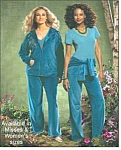 Teal Velour Lounge 3-pc Set W/satin Trim