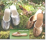 Metallic Sequin Slides - 2 Pair Set