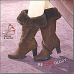 Reflexology Faux Fur Boot