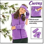 Curves Sporty Fleece Vest Set