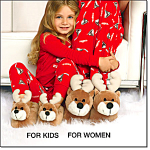 Reindeer Slippers - Womens