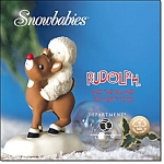 A Ride With Rudolph Snowbabies Figurine
