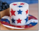 Americana Spirit Of America Candle And Holder