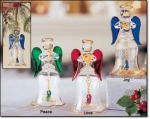 Glass Angel Bells Ornaments - Mint