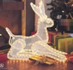 3-dimensional Lighted Reindeer - Mint