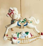 Porcelain Musical Rocking Horse Ornament