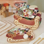 St. Nicholas Cookie Jar W/cookie Plate