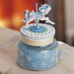 Winter Splendor Carousel Candle Jar