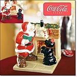 Coca-cola Holiday Salt And Pepper Set - New