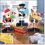 Holiday Standees-reindeer, Snowman, Santa