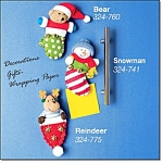Cute Holiday Magnets Winter Buddies