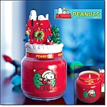 Peanuts Collectible Holiday Candle Jar-new