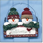 Snowy Greetings Door Hanging