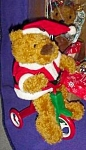Avon 1997 Cycling Santa Bear On A Tricycle